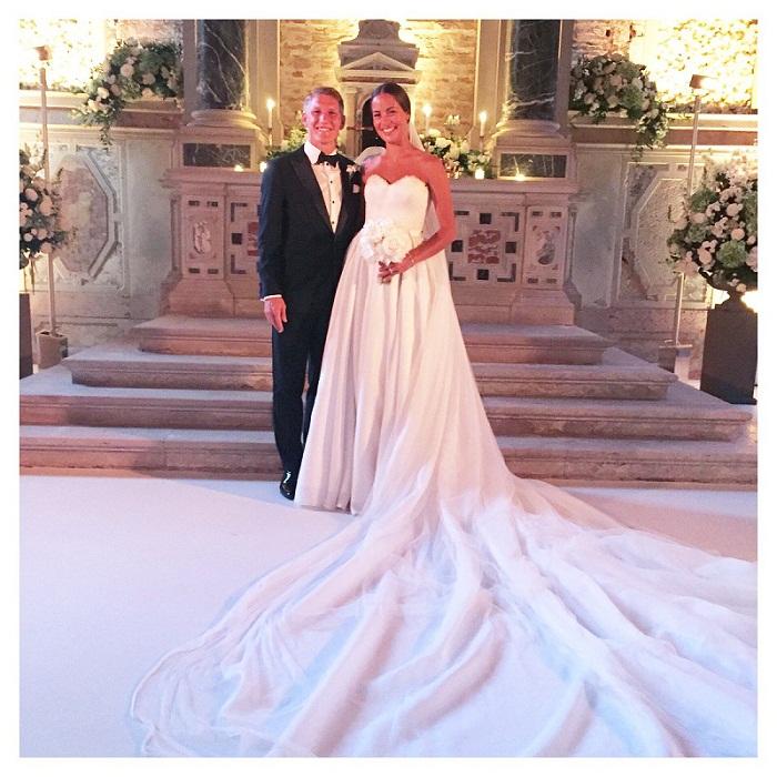 Ана Иванович с мужем Бастианом Швайнштайгером фото