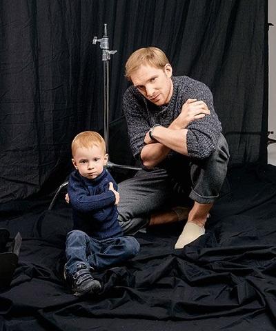 Андрей Бурковский с сыном фото