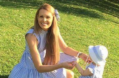 Мария Горбань с дочерью Стефанией фото