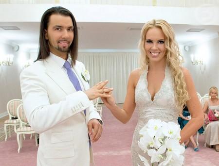 Денис Клявер с женой Ириной Федотовой фото