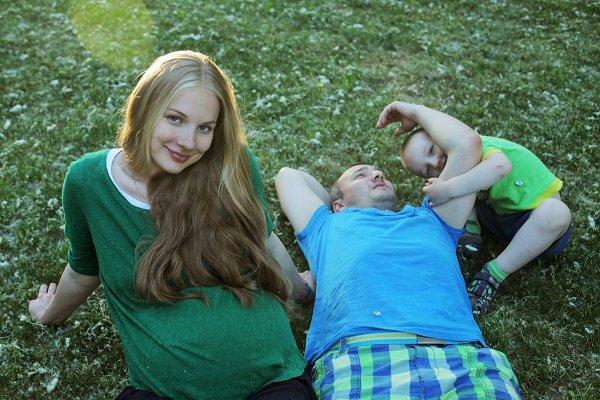 Елена Аросьева с мужем и сыном фото