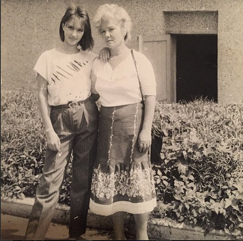 Лера Кудрявцева в молодости со своей мамой фото