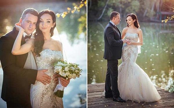 Никита Зверев с третьей женой. Фото со свадьбы.