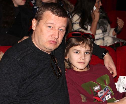 Олег Фомин с сыном Данилой