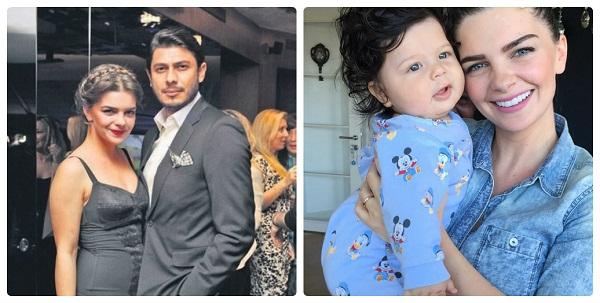 Пелин Карахан с семьей мужем и сыном фото