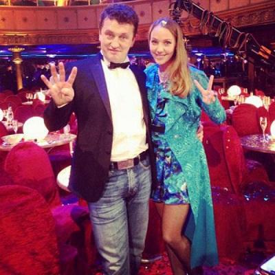 Галина Боб с мужем Сергеем Корягиным на фото