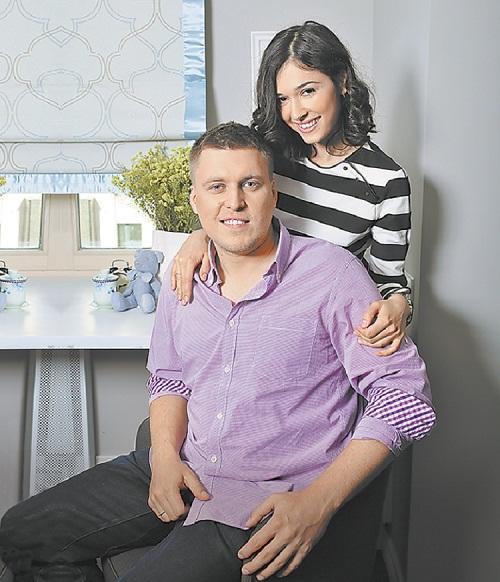 Александр Незлобин с женой Алиной фото