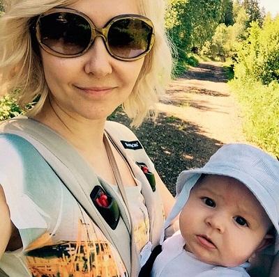 Василиса Володина с сыном