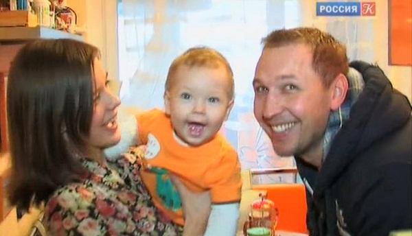 Екатерина Шпица с мужем Константином Адаевым и сыном Германом фото
