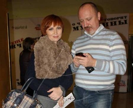 Елена Ксенофонтова с мужем
