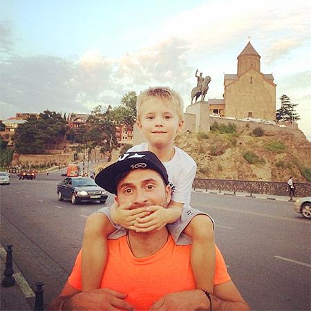 Ираклий Пирцхалава с сыном Ильей фото