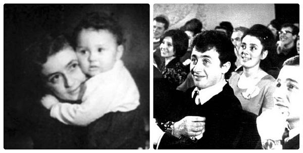 Леонид Якубович в детстве с мамой и в молодости фото