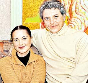 Ольга Будина с бывшим мужем