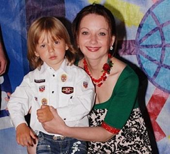 Ольга Будина с сыном Наумом