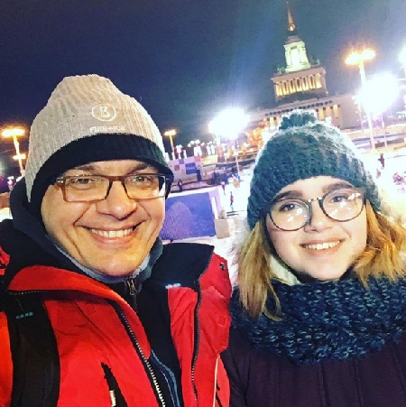 Роман Будников с дочерью Александрой фото