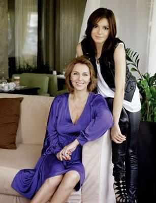 Татьяна Лютаева с дочерью Агнией Дитковските фото