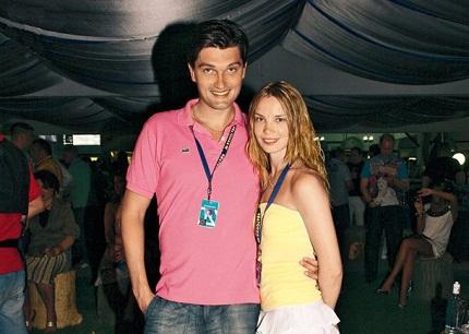 Ольга Арнтгольц с мужем фото