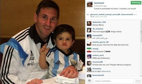 Лионель Месси с сыном